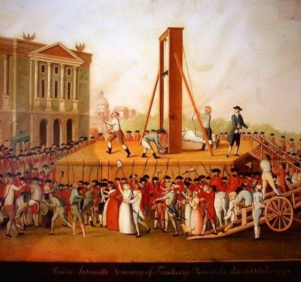 Ejecución en la guillotina.
