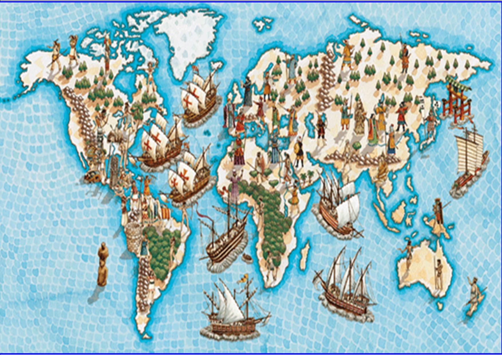 Mapa Del Mundo En La Edad Moderna Las Rutas Comerciales En La Edad