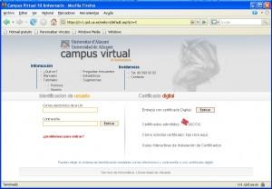 Nuevo sistema de identificación en Campus Virtual
