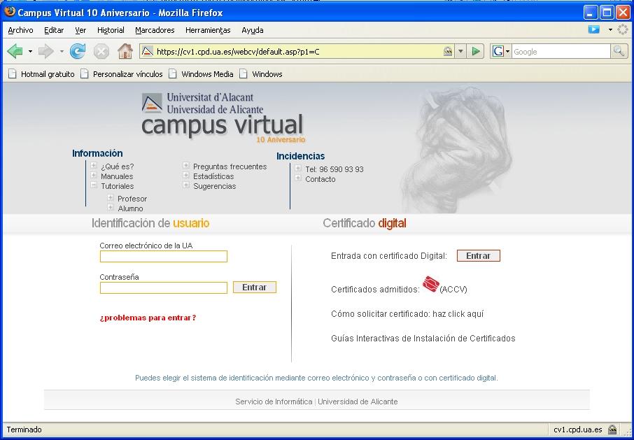 Campus Virtual UA