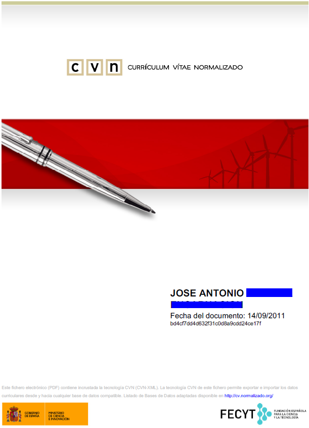 Currículum Vitae Normalizado disponible ya en la UA – Servei d ...