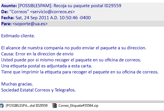 No has recibido un paquete postal servei d 39 inform tica for Correos es oficina virtual