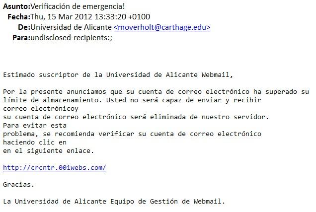 Nuevo Ataque A Correos Electr 243 Nicos De La Ua Servei D