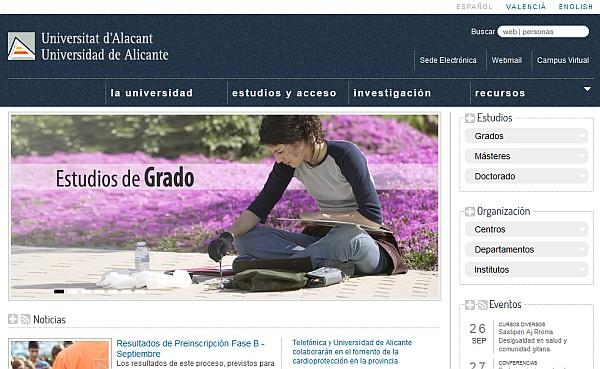 Nueva web de la UA