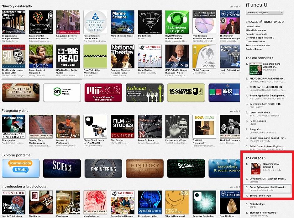 iTunesU destacados