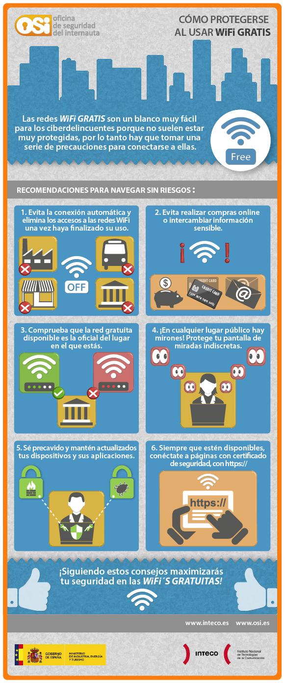 ¿Cómo protegerse al usar wifi gratuita?