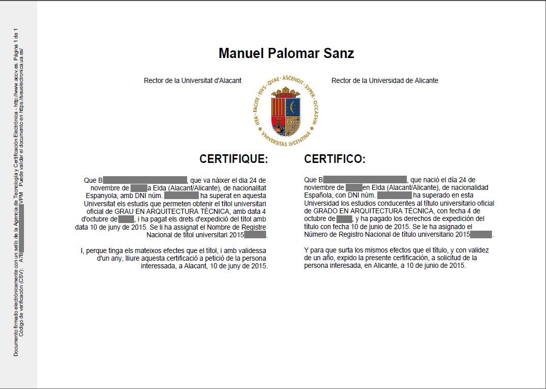 Certificado supletorio provisional