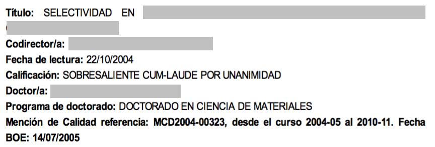 Formato del certificado de dirección de tesis