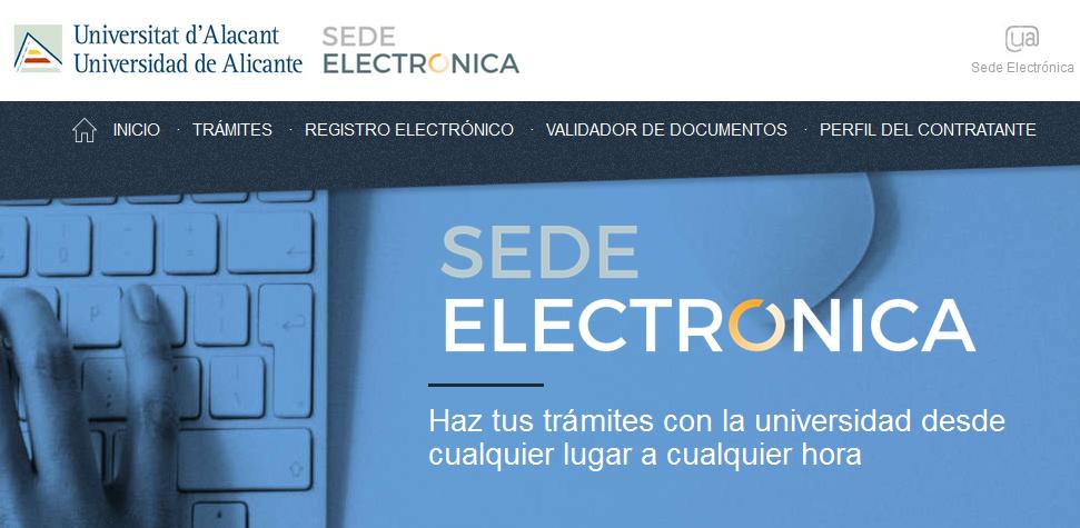 Sede Electrónica de la UA