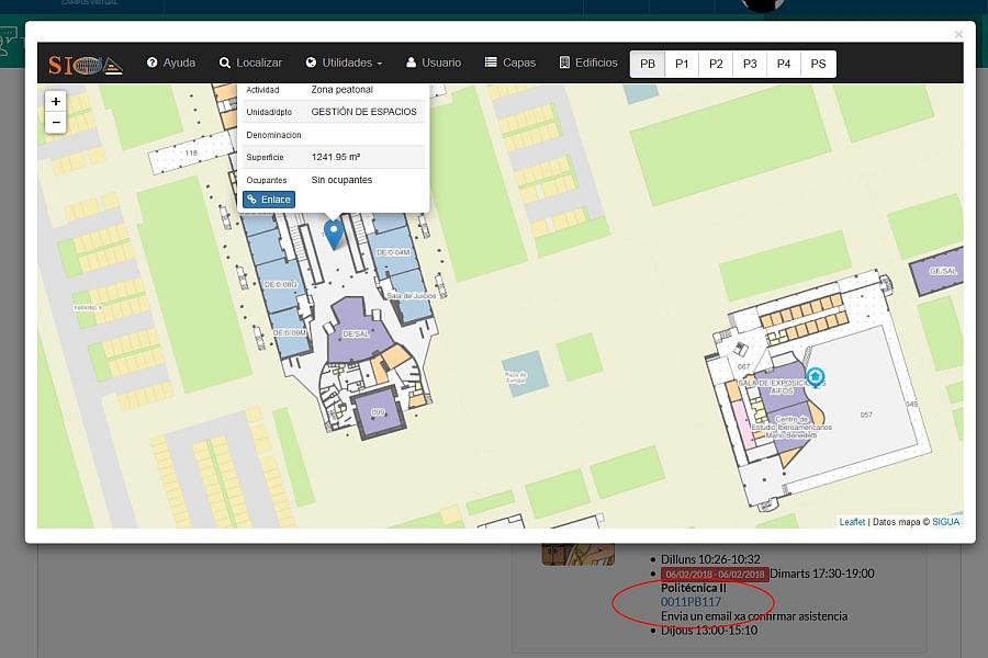 Tutorías - Visualización de estancias con el código SIUA