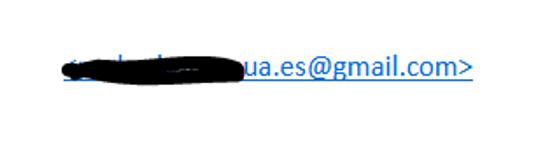 Supuesta cuenta de correo del remitente