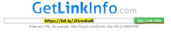 Análisis con GetLinkInfo