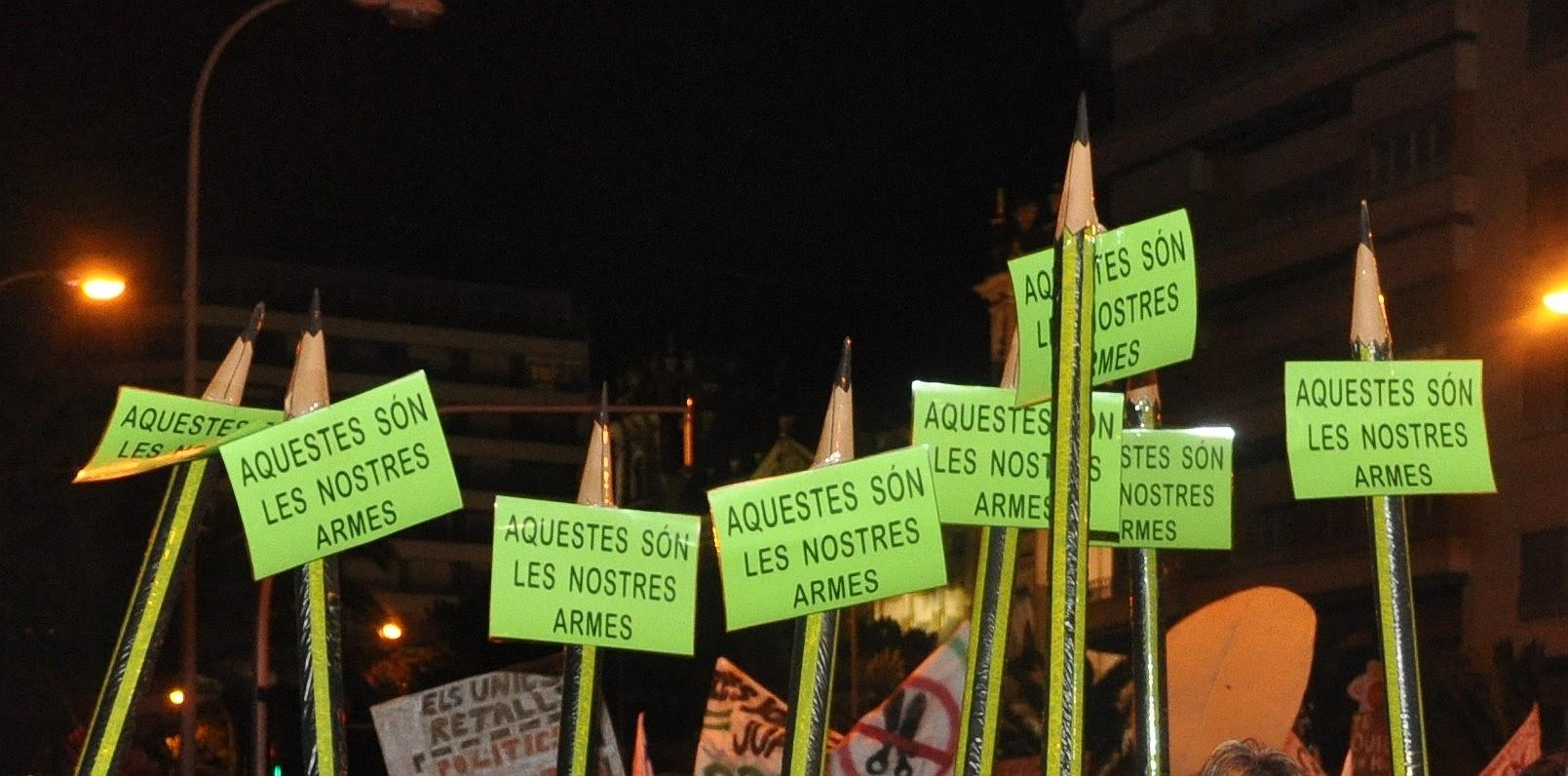Manifestación en Alicante, NO  A LOS RECORTES, 25/2/2012