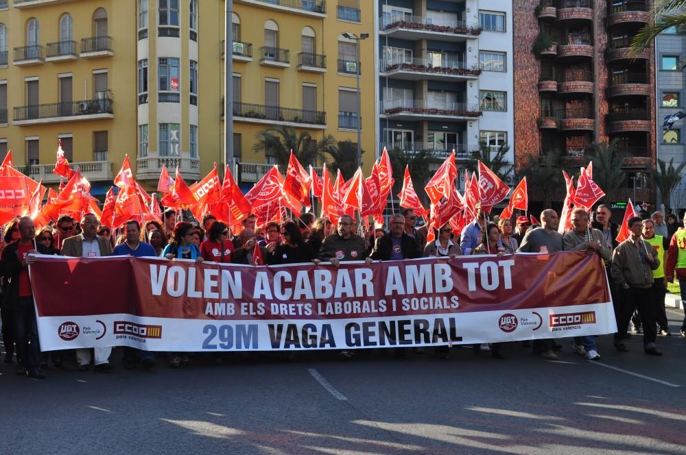 Manifestación del 29 de marzo, huelga general