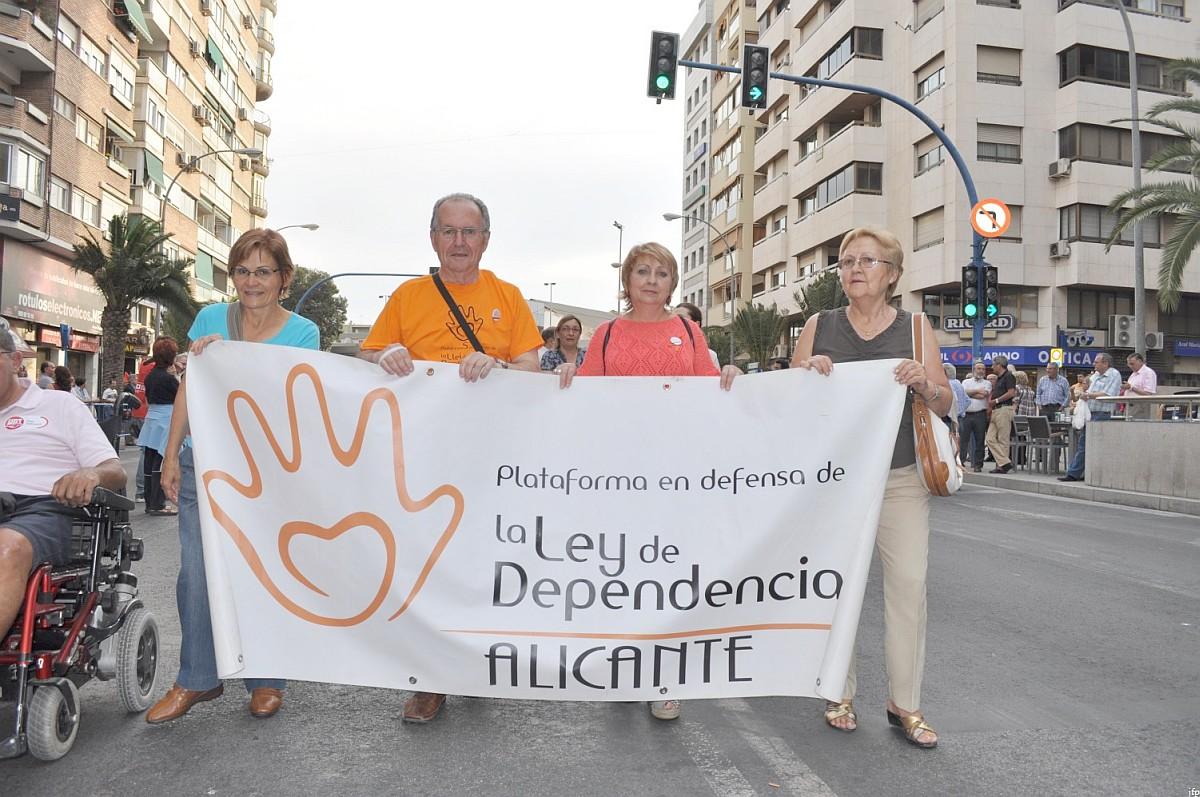 Plataforma en defensa de la ley de dependencia de Alicante