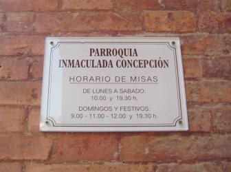 HORARIO MISA