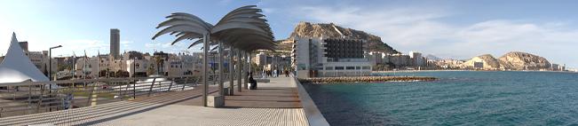 Paseo de la playa de Alicante