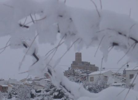 Imagen de Banyeres de Mariola nevado
