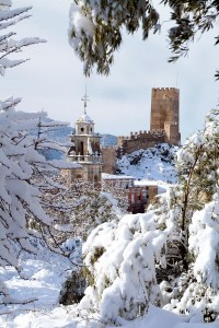 La Ermita del Santo Cristo nevada