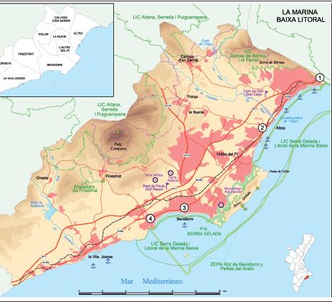 Turismo y paisaje en el litoral norte de Alicante