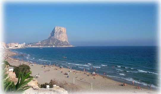 Playa Levante de Calpe