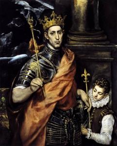 San Luis, en una imagen que podría ser la del Rey Prudenciano